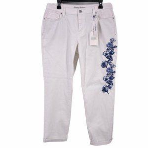 Tommy Bahama Walk The Vine Boyfriend Floral Jeans